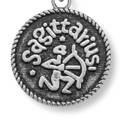 Personalized Jewelry: Zodiac: Silver-Tone Angelica Sagittarius Expandable Bangle