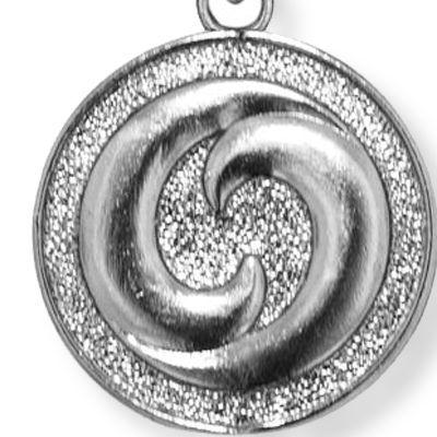Personalized Jewelry: Symbols: Silver-Tone Angelica Yin Yang Expandable Bangle