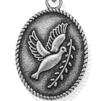 Personalized Jewelry: Symbols: Silver-Tone Angelica Peace Dove Expandable Bangle