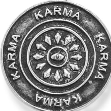 Personalized Jewelry: Symbols: Silver-Tone Angelica Karma Expandable Bangle