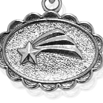 Personalized Jewelry: Nature: Silver-Tone Angelica Shooting Star Expandable Bangle