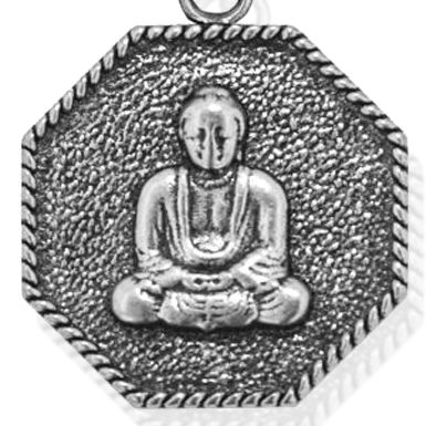 Personalized Jewelry: Symbols: Silver-Tone Angelica Buddha Expandable Bangle