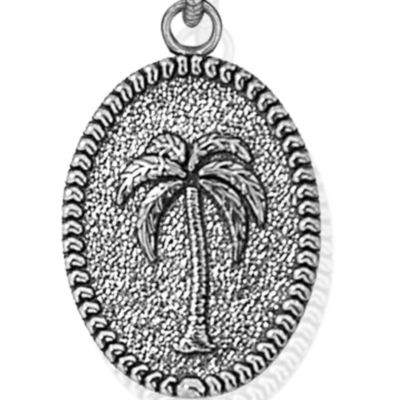 Personalized Jewelry: Symbols: Silver-Tone Angelica Palm Tree Expandable Bangle