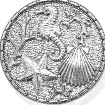Personalized Jewelry: Symbols: Silver-Tone Angelica The Sea Expandable Bangle