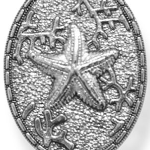Personalized Jewelry: Symbols: Silver-Tone Angelica Starfish Expandable Bangle