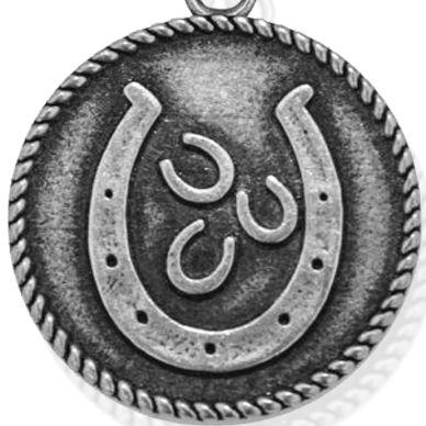 Personalized Jewelry: Symbols: Silver-Tone Angelica Lucky Horseshoe Expandable Bangle