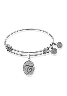 Angelica T initial Expandable Bangle