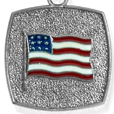 Personalized Jewelry: Bangles: Silver-Tone Angelica American Flag Expandable Bangle