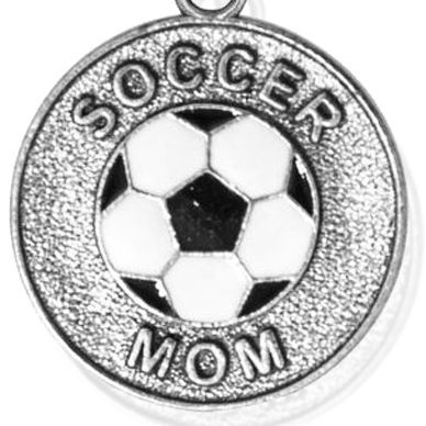 Personalized Jewelry: Sports & Hobbies: Silver-Tone Angelica Soccer Mom Expandable Bangle
