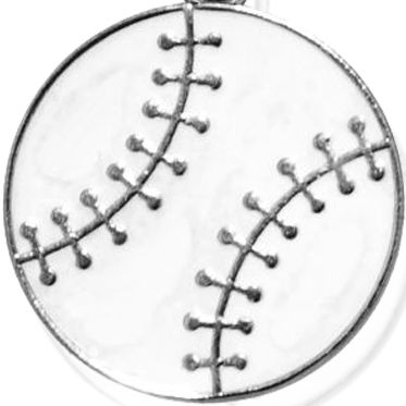 Personalized Jewelry: Sports & Hobbies: Silver-Tone Angelica Baseball Expandable Bangle