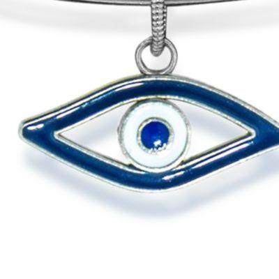 Personalized Jewelry: Symbols: Silver-Tone Angelica Evil Eye Expandable Bangle