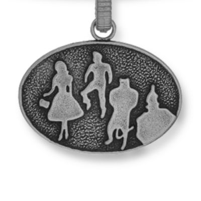 Personalized Jewelry: Symbols: Silver-Tone Angelica Wizard of Oz™ Silhouette Expandable Bangle