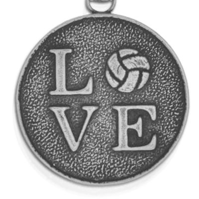 Personalized Jewelry: Symbols: Silver-Tone Angelica Volleyball Love Expandable Bangle