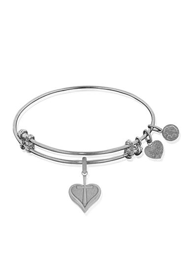Angelica Heart and Cross Expandable Bangle