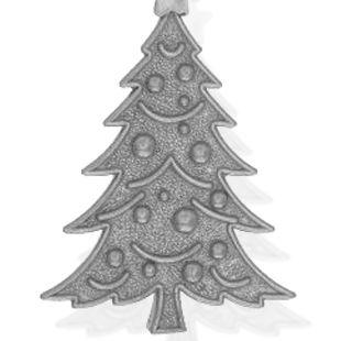 Personalized Celebration Bangles: Silver-Tone Angelica Christmas Tree Expandable Bangle