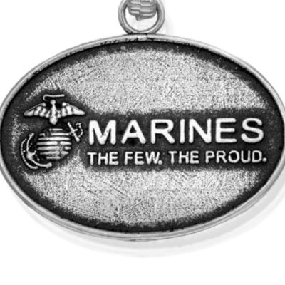 Personalized Jewelry: Military: Silver-Tone Angelica Proud Marine Expandable Bangle