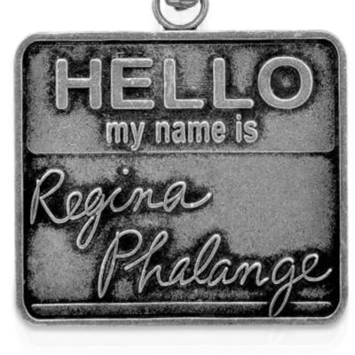 Personalized Jewelry: Faith & Family: Silver-Tone Angelica Friends Regina Phalange Expandable Bangle
