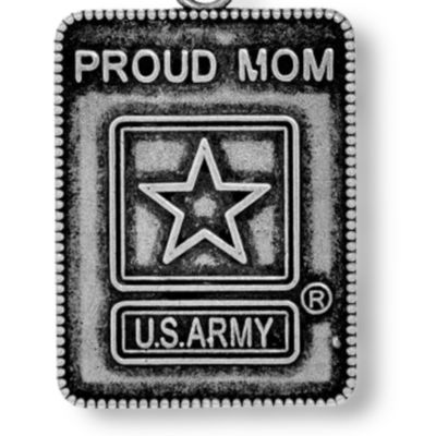 Personalized Jewelry: Military: Silver-Tone Angelica Proud Army Mom Expandable Bangle