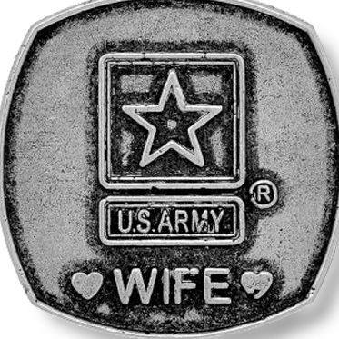 Personalized Jewelry: Military: Silver-Tone Angelica United States Army Wife Expandable Bangle