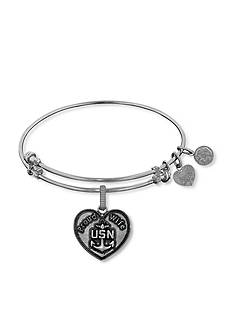 Angelica Proud Navy Wife Expandable Bangle