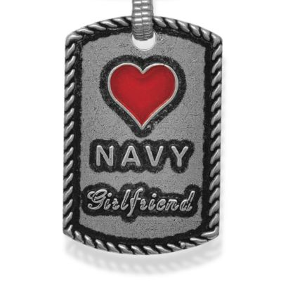 Personalized Jewelry: Military: Silver-Tone Angelica Navy Girlfriend Expandable Bangle