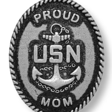 Personalized Jewelry: Military: Silver-Tone Angelica United States Navy Proud Mom Expandable Bangle