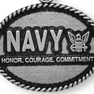 Personalized Jewelry: Military: Silver-Tone Angelica Navy Honor, Courage, Commitment Expandable Bangle