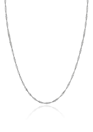 Belk & Co. 14k White Gold 18-in. Singapore Chain