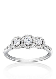 Belk & Co. 1/2 ct. t.w. 3 Stone Diamond Ring in 14k White Gold