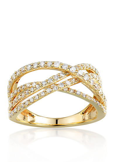 Belk & Co. Diamond Band in 14k Yellow Gold