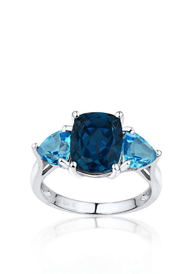 Belk & Co. Sterling Silver London and Swiss Blue Topaz Ring