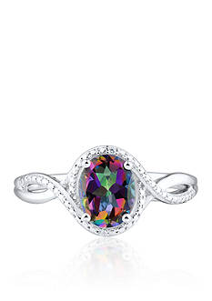 Belk & Co. Mystic Fire Topaz and Diamond Accent Ring in Sterling Silver