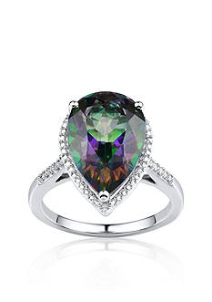 Belk & Co. Mystic Topaz and Diamond Accent Ring in Sterling Silver