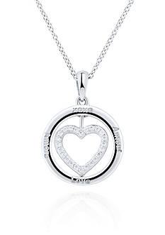 Belk & Co. Diamond Accent Heart Flip Pendant in Sterling Silver