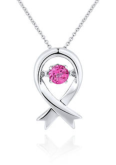 Move My Heart Moving Pink Topaz Pendant in Sterling Silver