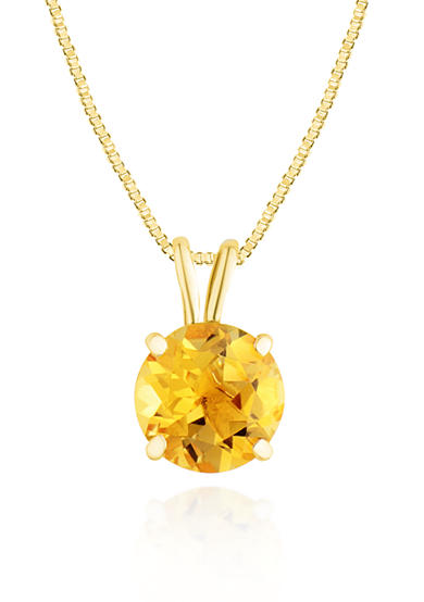 Belk & Co. 14k Yellow Gold Citrine Pendant