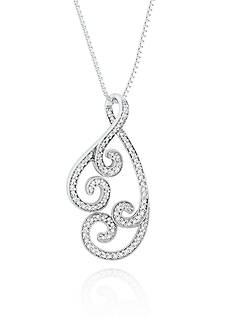 Belk & Co. Diamond Swirl Pendant in Sterling Silver