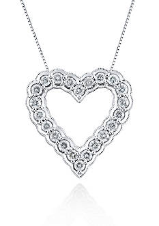 Belk & Co. Diamond Heat Pendant in 10k White Gold