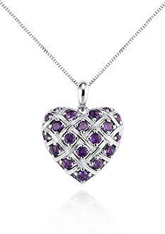 Belk & Co. Sterling Silver Amethyst Heart Pendant