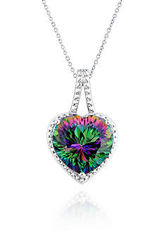 Belk & Co. Mystic Fire Topaz and Diamond Accent Pendant in Sterling Silver