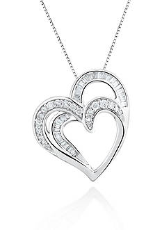 Belk & Co. Diamond Heart Pendant in 10k White Gold