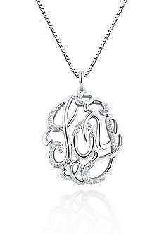 Belk & Co. Diamond Joy Pendant in Sterling Silver