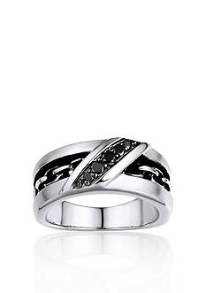 Belk & Co. Men's Black Diamond Ring in Sterling Silver