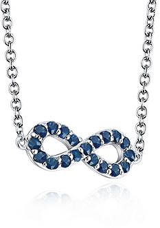 Belk & Co. Sterling Silver Sapphire Infinity Necklace