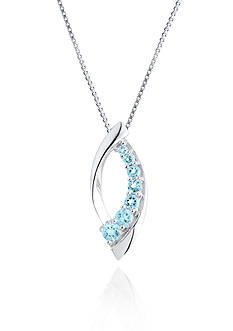 Belk & Co. Sterling Silver Blue and White Topaz Pendant