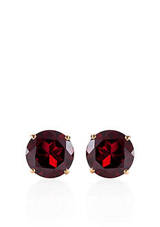 Belk & Co. 14k Yellow Gold Garnet Stud Earrings