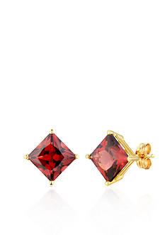 Belk & Co. 14k Yellow Gold Garnet Stud Earrings