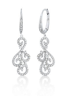 Belk & Co. Diamond Earrings in Sterling Silver