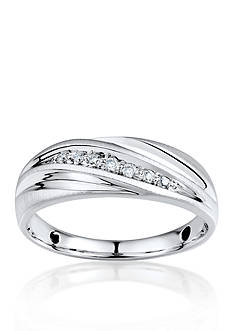 Belk & Co. Men's Diamond Ring in 10k White Gold