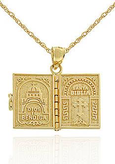 Belk & Co. 14K Gold Santa Biblia Pendant